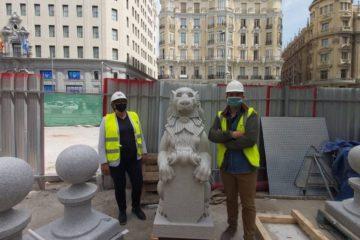 Alcaldesa do Porriño visitou en Madrid a réplica do Templete de San Luis