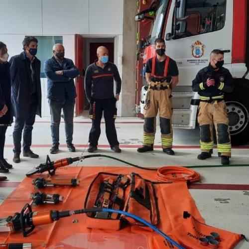 Os bombeiros de Viveiro xa teñen equipo de excarcelación