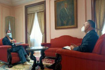 Alcaldesa de Lugo comparte cos empresarios reivindicacións en infraestruturas