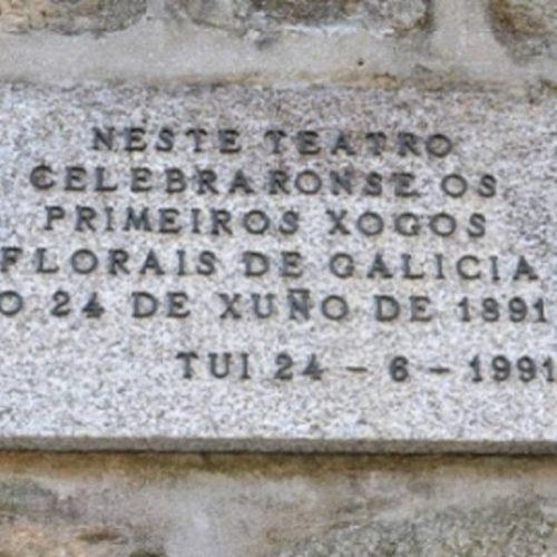 Tui conmemora o CXXX aniversario dos Xogos Florais de Galicia