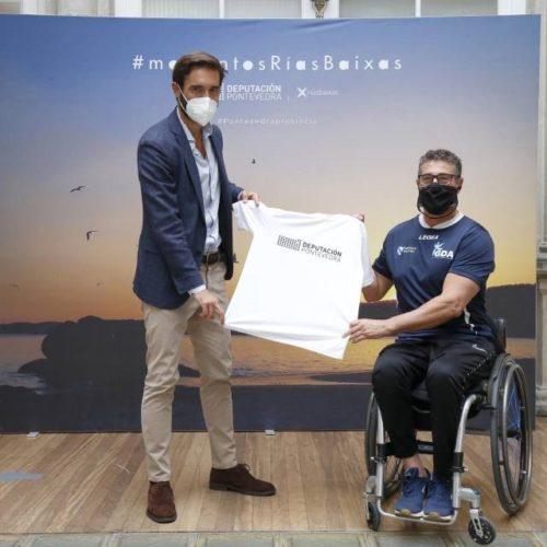 Deputación da Coruña recibiu ao atleta paralímpico galego Sebastián Rodríguez Veloso