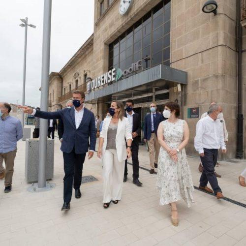Feijóo visitou a nova estación de autobuses Intermodal de Ourense