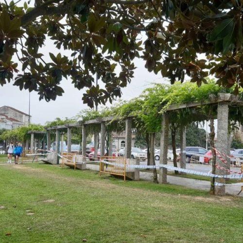 Monforte inicia a reparación da pérgola do Parque dos Condes