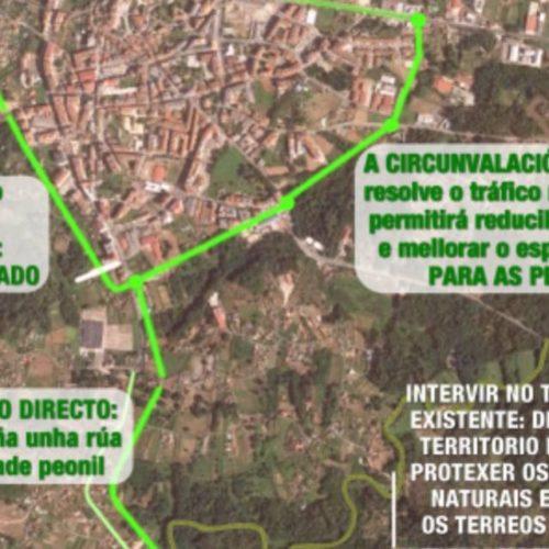 Esquerda Unida celebra a modificación do trazado de circunvalación de Ponteareas