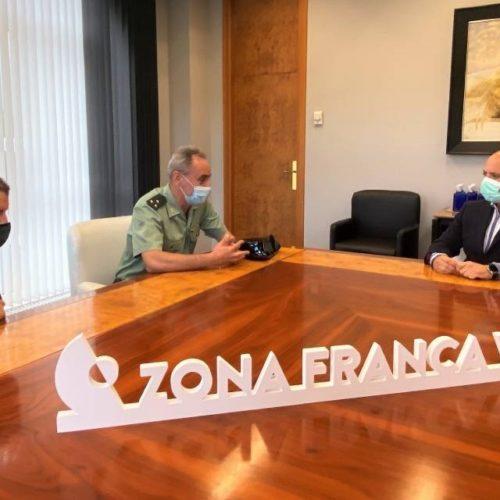 Zona Franca recibiu ao novo Capitán de Seguridade Portuaria e Aeroportuaria de Vigo
