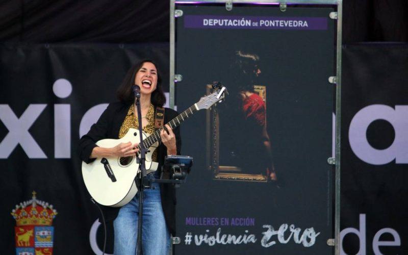 A voz de Najla Shami alzouse en Baiona contra as violencias machistas