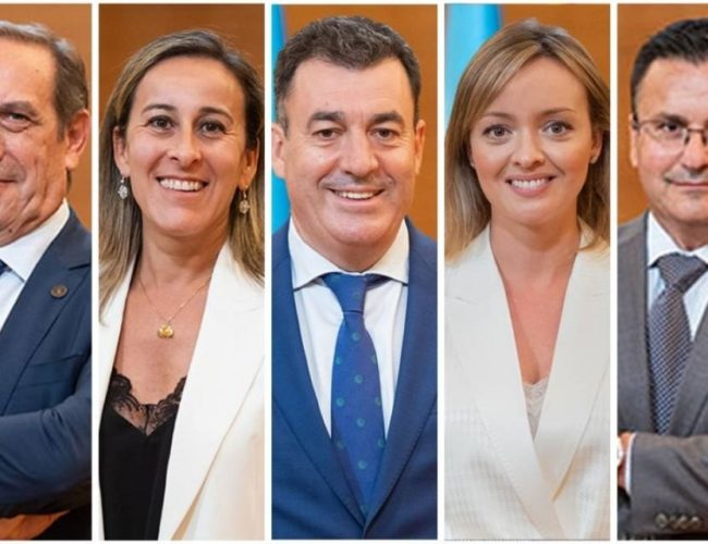 Sete conselleiros do goberno galego formalizan a súa renuncia ao escano no Parlamento galego