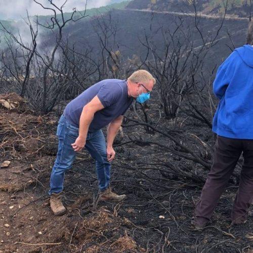 Avaliadas medidas de recuperación das zonas afectadas polos incendios en Ribas de Sil