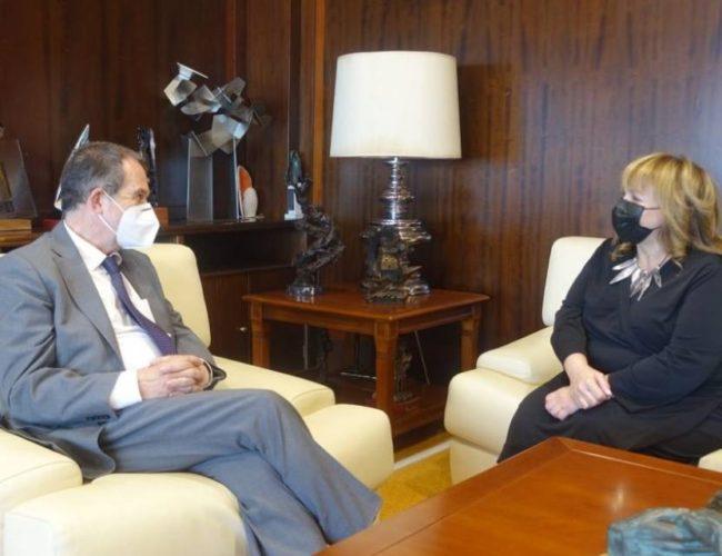 Abel Caballero se despide da cónsul de Argentina en Vigo