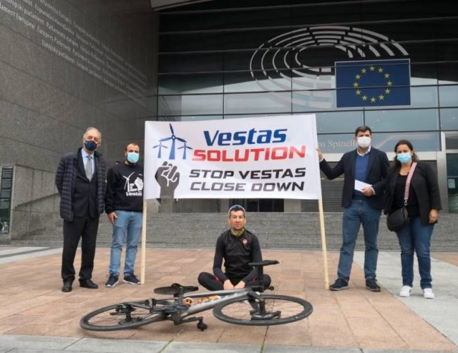 BNG respalda en Bruxelas aos traballadores de Vestas