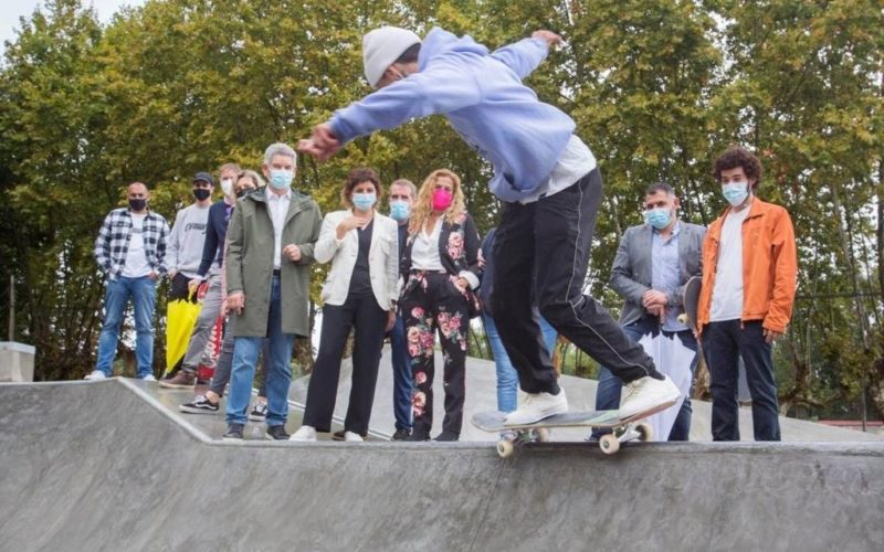 Tomiño inaugurou o skatepark en Goián
